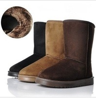 Free Shipping!New arrival fashion women winter warm flat heels solid snow boots wholesale