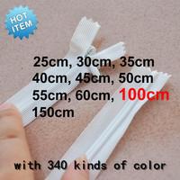 wholesale   100cm  nylon zipper/blankets zipper  /Sheets of zipper  white& Black