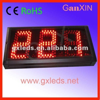Hot product:  5 inchsemi-outdoor digital  led counter countdown count up timer
