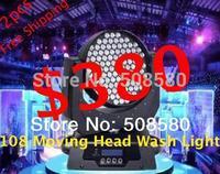 led moving head wash light 108pcs x 1W / 3W RGBW led stage bar lighting