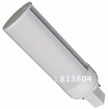 G24 Base  LED tube lights High power leds Source Genuine aluminum Free custom logo energy saving lamp white light