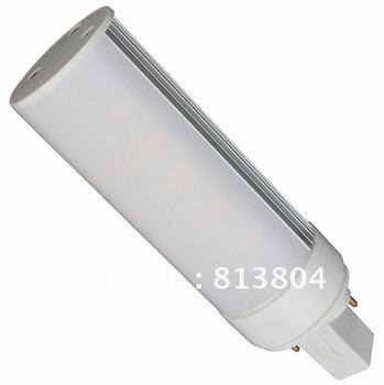 G24 Base  LED tube lights High power leds Source Genuine aluminum Free custom logo energy saving lamp white light