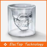 Free shipping Creative Doomed Crystal Skull Head Glass Barware Gift 30pcs/lot Wholesale