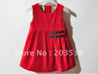 Free shipping 2012 Girl Dress Children Dress Vest  For S&A 1pcs/lot The best gift for the Child