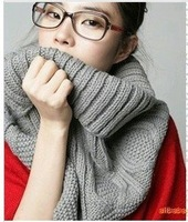 Korean Popular Winter Scarf  Multi-usage Solid Color Classical Design Lady Wraps Diamond Twisted Scarves For Women 8 Colors