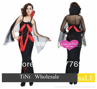 FREE SHIPPING Mistress Vampire Costume Halloween queen long dress