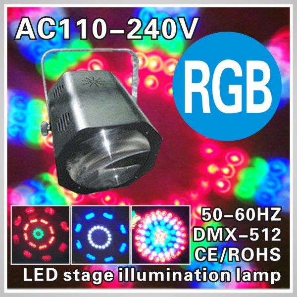 Strobe color KTV bars stage lights DJ Lamp RGB free shipping 110V - 240V global foreign trade LED essential products(China (Mainland))