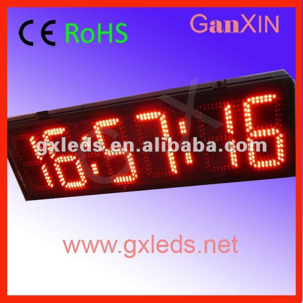 8inch 6digits semi-outdoor red 7 segment Digital Led Clock display(China (Mainland))