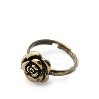 Mini Order $15 Free Shipping Women Rings 2013 Vintage Fashion Gold Copper Rose Ring