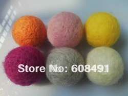 Fashion 50MM round shape totally handmade wool felt balls!Mixed colors felt wool ball beads for DIY jewelry&amp;Christmas decoration(China (Mainland))