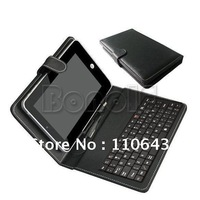 Leather Cover Case & USB Keyboard for 7'' Tablet PC MID Laptop Bag Free Shipping Drop Shipping 1504