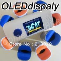 wholesale-finger pulse oximeter SPO2 PR wave form OLED display 4 direction free shipping blood oxygen monitor spo2 pr 3 colors