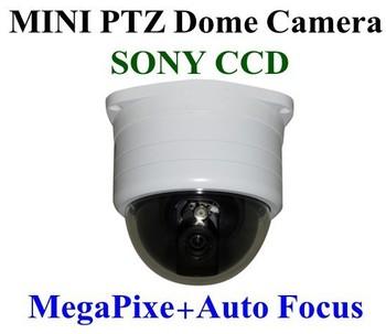 Christmas    420TVL SONY CCD Mega Pixel Synchronous Auto Focus Mini PTZ CCTV Speed Dome Cameras