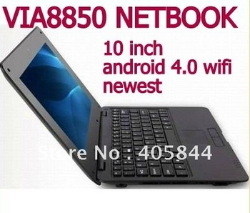 DHL free shipping cheapest 10 Notebook android 4.0 mini pc 512M ram 4g rom wifi rj45 netbook laptop 2013 new laoptop