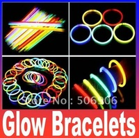 Retail Package With fluorescent bracelets flashing lighting wand novelty toy glow sticks for christmas celebration festivities