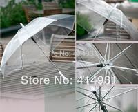 Whosale 5Pcs/lot Long Handle Color Transparent Umbrella Self-opening Umbrella U-08