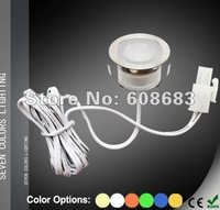 Free Shipping! IP54 Indoor Decorative Lighting Set Small Lights for Floors/Plinth/Stairs: 24pcs Lights & 4pcs LED 8W Transformer