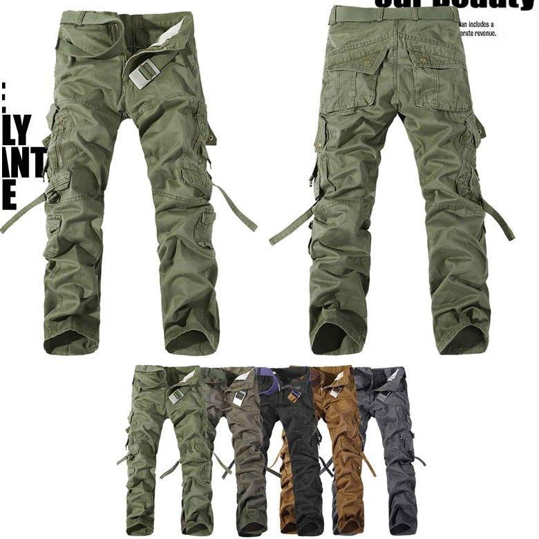 Mens casual asker ordusu kargo camo mücadele iş pantolonunu pantolon