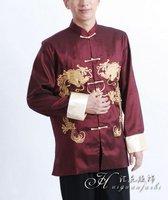 wine color long sleeve garment