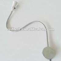 Hotel Best sale 3W led flexible gooseneck led wall lamp/LED light flexible gooseneck wall lamp