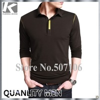 HOT SELLING BRAND MEN'S LONG-SLEEVE T-SHIRT, CASUAL SLIM-FIT T-SHIRT FOR MEN ,FREE SHIPPING BY CHINA POST