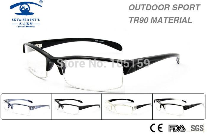 New Computer Glasses Frame Man TR90 Half Frame Outdoors Sports Prescription oculos Mens Clear Lens Fashion Glasses(China (Mainland))