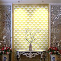 [Mius Art Mosaic] Gold mirror & pure white color art Glass mosaic tile  puzzle for backsplash art wall KL114