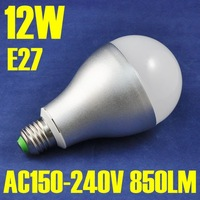 NEW Product! 12W High Power, 850 High Lumen, AL+PC, AC150-240V, Cool White, Warm White E27 LED Bulb