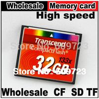 Real capacity 133X Transcend Compact Flash CF card flash 8GB 16GB 32GB 64GB memory card For Canon Nikon camera,Free shipping