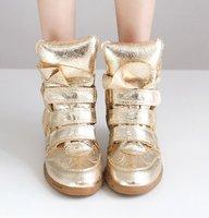 Gold Isabel Marant Sneaker  High Top Wedge Sneakers