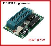 Free shipping 5PCS PIC K150 ICSP Programmer USB Automatic Programming Develop Microcontroller + USB+ ICSP cable  409859-00230-5
