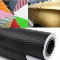 New 2014 Car Styling High Quality Car Stickers And Decals 150W x 10L cm 6color 3D Carbon Fiber Sheet Film Vinyl Car Sticker