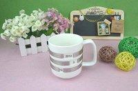 DHL EMS Free Shipping 400ml Ceramics sublimation Mug White Hot Sale In 2012