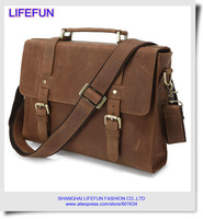 2014 new MAD MEN GENUINE LEATHER briefcase Messenger shoulder totes bag laptop computer bag business bag LF02023