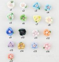 Wholesale Nail Jewelry Handmade, Three-dimensional Flowers Fresh, Series of Ceramic Flower 6mm, 23 models + Free Shipping