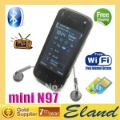 hot sale mini N97 wifi tv mobile phone bluetooth FM dual camera free shipping