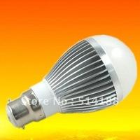 10pcs Free shipping 10W 110-240V silver led globe light B22/E14/E27 led