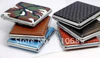 10pcs/lot) Hot Selling Cigarette Case The leather tabcco Clips  Stylish Cigarette Boxes holds 20 cigarettes