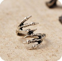 254#Min.order is $10 (mix order).European and American Vintage Jewelry punk rock EAGLE RING.