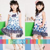 Dress Only! summer new Cute bow Bubles Design girls dress baby  kids children clothes girl dresses K0466