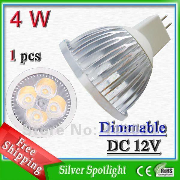 4W MR16 Dimmer Led Lampen Spots Lighting Warm White / Nature White / Cool White 400LM Under Cabinet Led Lights AC 110V 220V(China (Mainland))