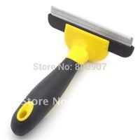 Pet Fur Deshedding tool Pet Brush Grooming Comb Rake Dog Cat Metal Blade