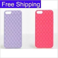 Soft TPU silicone chocolate diamond pattern Back cover case For iPhone 5 5g 5th ,  Free shipping DHL 200pcs