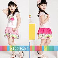 Retail Free Shipping Girls Flower Dress Summer Casual Dress,Cartoon,Sweet Wear  K0467