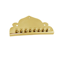 2PCS Triangle Gold Plated Mandolin Tailpieces Bridges