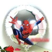 """50 PCS 18"""" inch Silver Spider man Helium balloons kids birthday party decorations Inflatable toys gifts for children games"""