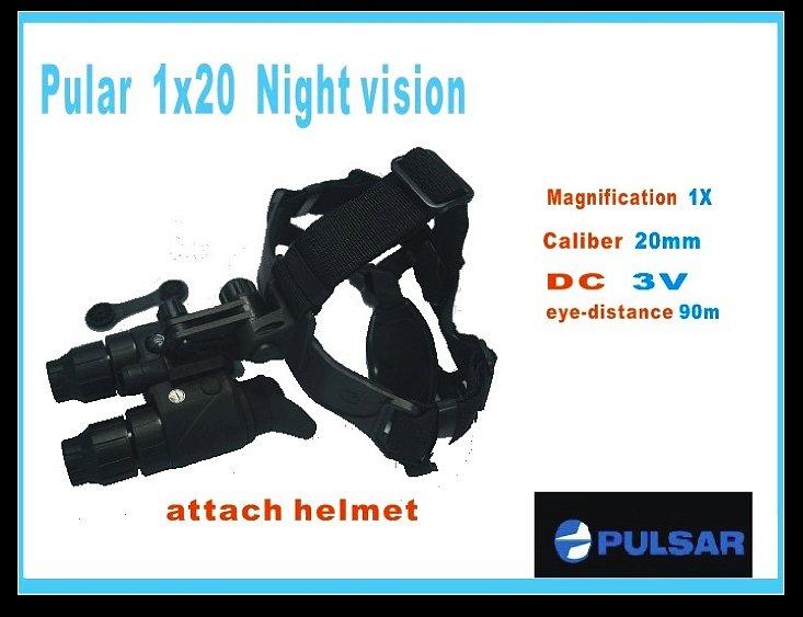 Alta qualidade Yukon ( pulsar ) 1x20 visão noturna + capacete Suporte 90M , Riflescope / Caça Scope / escopo térmica(China (Mainland))