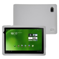 White Silicone Skin Case For  Iconia Tab A500 10.1 inch Tablet Free Shipping
