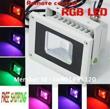 10W RGB LED Flood light  Wash  Floodlight Outdoor cheap changeable Lamp+remote controller colorful for Christmas Factory sale !!