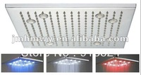 Free shipping 16 inch square hydro power led shower head